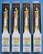 4 Boxes Color Drip Taper Candles set of 2. Made in USA - EXPEDITE Shipping