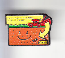 RARE PINS PIN'S .. AGRICULTURE TRACTEUR TRACTOR DECHET TONDEUSE ONYX FRANCE ~BJ