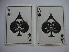 """2 Vietnam War ACE Of SPADE """"Death Skull"""" Propaganda Cards *Old Stock, Unissued*"""