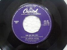 """THE ANDREW SISTERS 45 CL 15170 RARE SINGLE 7"""" INDIA INDIAN 45 rpm VG+"""