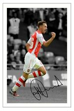 AARON RAMSEY ARSENAL SIGNED AUTOGRAPH PHOTO PRINT 2014/15 SOCCER