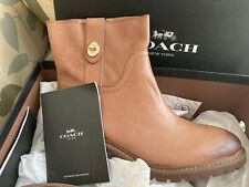 COACH Georgetta Women's Ankle Boots Leather Booties  New in Box 7.5
