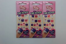Pink by Kiss Nail Strips - DPNS02 Too Cute, 20 Strips (3 PACK)
