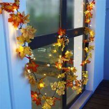 Fall Leaves Light String Set Autumn Leaf Garland Harvest Decor Thanksgiving