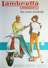 "Reproduction Vintage Italian ""Lambretta Innocenti"" Poster, Wall Art, Size A2"