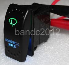 7P ON/OFF/ON DPDT WINDSHIELD WIPER Rocker Switch Green & Blue  Lamp Marine Grade