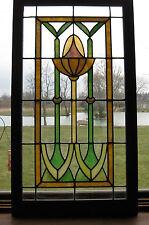 ANTIQUE ART NOUVEAU STAINED GLASS WINDOW - ca. 1910