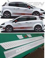 Fiat Punto Abarth Seiten Streifen Grafik Aufkleber Vinyle Irgendein Farben Evo