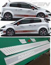 Fiat Punto Abarth Side Stripes Graphics Decals Stickers Vinyls any colours evo