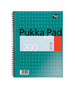 A4 Pukka Pad Notebook/200page/80gsm/Wirebound/Metallic/Most popular Pukka Pad