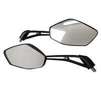 Universal Motorcycle Motorbike Mirrors 8mm/M8 Thread Rear View Adjustable Pair