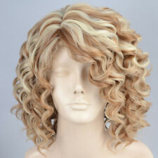 Awesome Lovely Short Summer Style wig Curly Blonde mix Skin Top Ladies Wigs UK