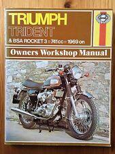 Triumph Trident & BSA Rocket 3, 741cc,1969 on, Owners workshop Manual
