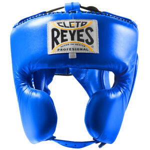 Cleto Reyes Classic Training Cheek Protection Boxing Headgear - Blue