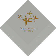 100 Starfish Personalized Wedding Luncheon Napkins