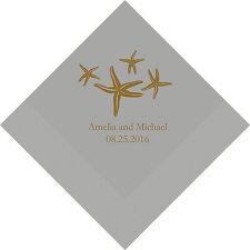 100 Starfish Personalized Wedding Luncheon Napkins