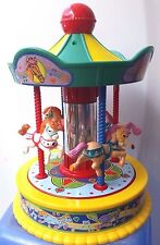 Vintage 1991 Redbox Musical Carousel Merry Go Round Toy Plays It's A Small World