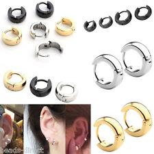 Fashion Mens Women Stainless Steel Helix Hoop Huggies Ear Studs Earring Piercing