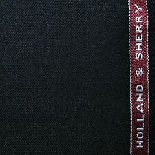 Holland and Sherry Black Plain Twill All Wool Suiting - 3.50 Mtrs