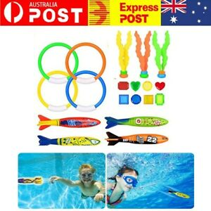 Plastic Underwater Diving Toys Water Fun Swimming Pool Toy Kids Summer Gift 19pc