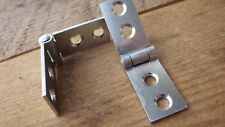 """PAIRS SELF COLOUR STEEL BACKFLAP HINGES 3/4"""" 18mm product 400"""