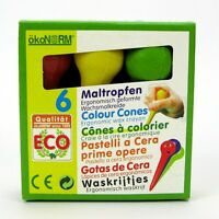 Ökonorm Nawaro Maltropfen 6 Farben Wachsmalkreide