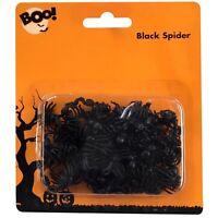 70 x Halloween Mini Black Spiders Trick Treat Party Decoration Table Confetti