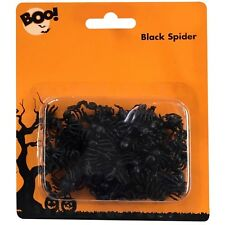 70 x Halloween Mini Black Spiders Trick Treat Party Decoration Table Confetti