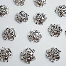 10pcs Swirl Flower Bead Caps Antique Silver 12mm Jewellery Findings - B00179