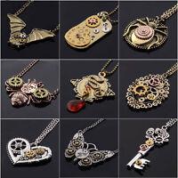 Wholesale Vintage Jewelry Machinery Gear Pendant Necklace Choker Chain