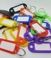 Key Ring ID Tags - Mixed Colours - Choose from 5 10, 20, 50, 100, 200 tag