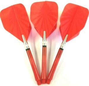 Dart Stems Rotating Super Spin Shafts 48mm + FLARE Dart Flights 5 or 10 Set pack