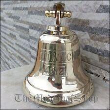 Brass Maritime Ship Bell Titanic Bell 1912 London Hanging Nautical Wall Decor