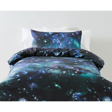 Reversible Galaxy Quilt Doona Cover Set Single Bed Bedroom Home Decor