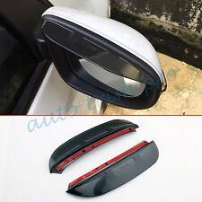 2PCS Side Rear View Mirror Rain Cover Visor Trim For Toyota Prado J150 2014-2016