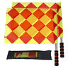 Soccer Referee Flags Professional Fair Play Football Linesman Flags With Bag_hc