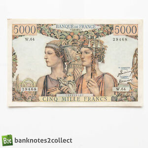 FRANCE: 1 x 5,000 French Franc Banknote. 05.04.51.