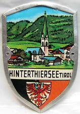Hinterthiersee Tirol used badge stocknagel hiking medallion mount G518