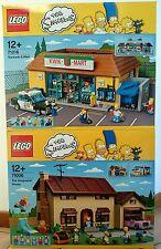 LEGO THE SIMPSONS COLLEZIONISTI 71006 71016 LA CASA DEI SIMPSON JET MARKET NEW