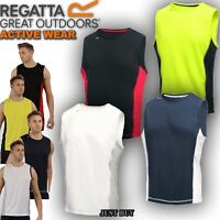 Regatta T Shirt Men Vest Sport Hiking Walking Running Gym Cycling Sleeveless Top