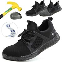 Men's Steel Toe Extra Wide Safety Shoes Work Boots Sports Hiking Shoes Trainers