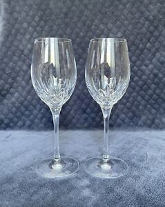 """Waterford Lismore Essence White Wine Cut Crystal Glasses 9 1/2"""" Tall"""