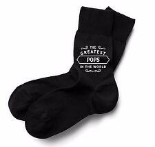 Pops Socks Birthday Gift Greatest Present Idea Boy Dude Him Men Black Sock