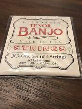 D'addario Tenor Banjo Strings J63, Nickel Wound, .009-.030