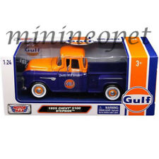 MOTORMAX 79651 1955 CHEVROLET 5100 STEPSIDE 1/24 GULF OIL DARK BLUE / ORANGE