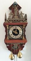 Large Dutch Zaanse Wall Clock 8 Day Hermle With Bell Strike