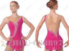 Figure Skating Dress Women Ice Skating Dresses Custom Pink