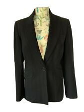 Karen Millen Black Blazer Jacket Size 10 Uk M Smart Career Work Office Business