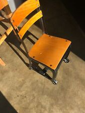 Vintage Industrial Metal Wood School Child Desk Chair American Envoy Seating Usa
