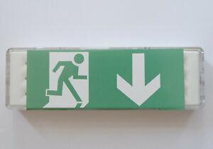 LED Notbeleuchtung Fluchtwegleuchte Notleuchte Notausgang Pfeil nach unten
